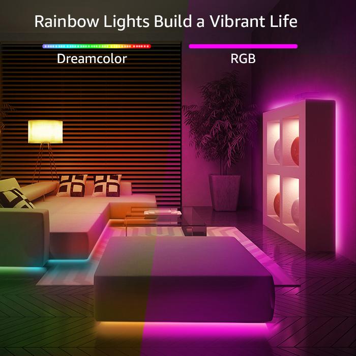 led strip lights colors in living room
