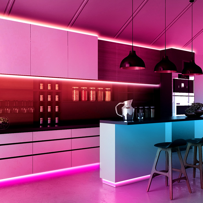 How To Choose And Install Led Strip Lights For Kitchen Cabinets