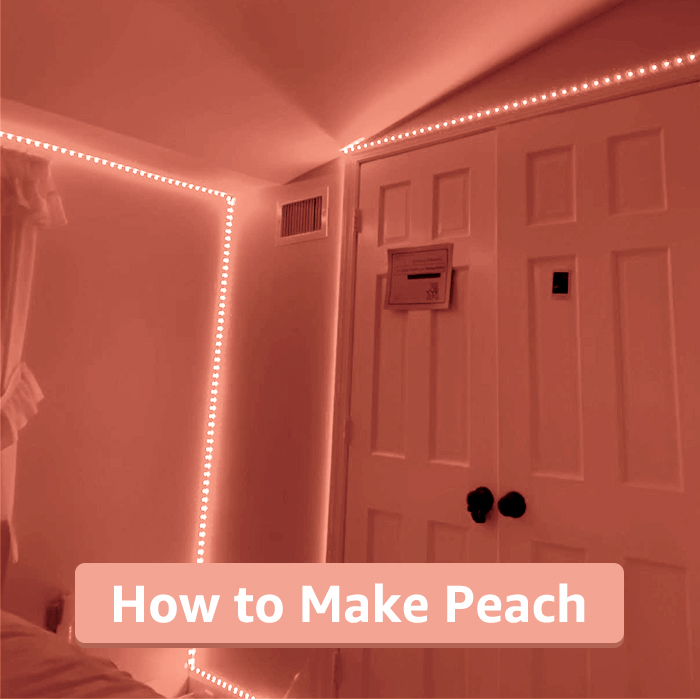 how to make peach color on led strip lights