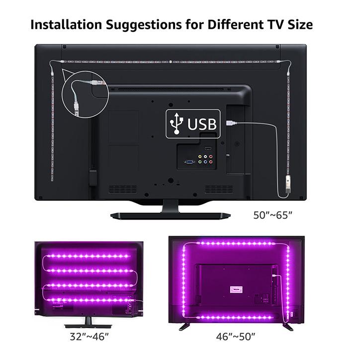 usb led strip lights for tv