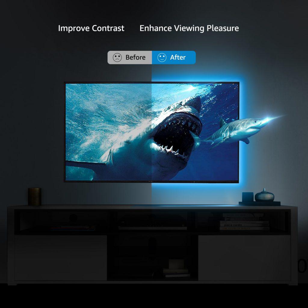 installing led light strips on tv