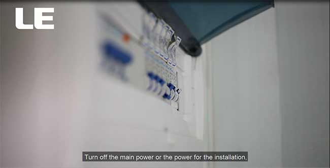 how to install flood light