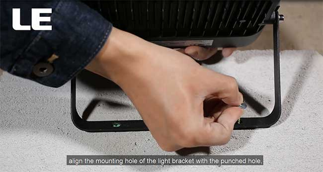 how to install a floodlight
