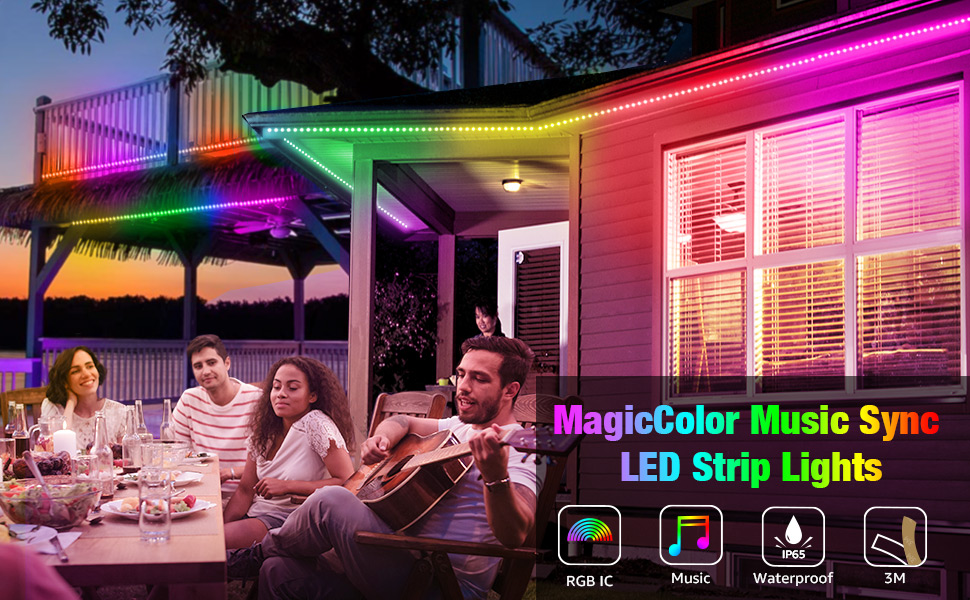waterproof LED strip lights with chase effect