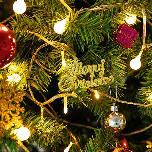 christmas warm white LED globe string lights