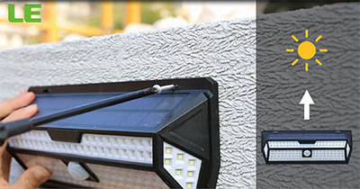 how to install led solar security light