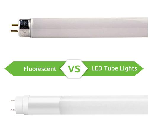 fluorescent vs led tube lights