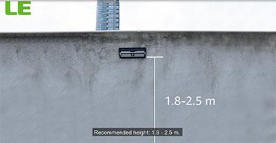 install led solar security light