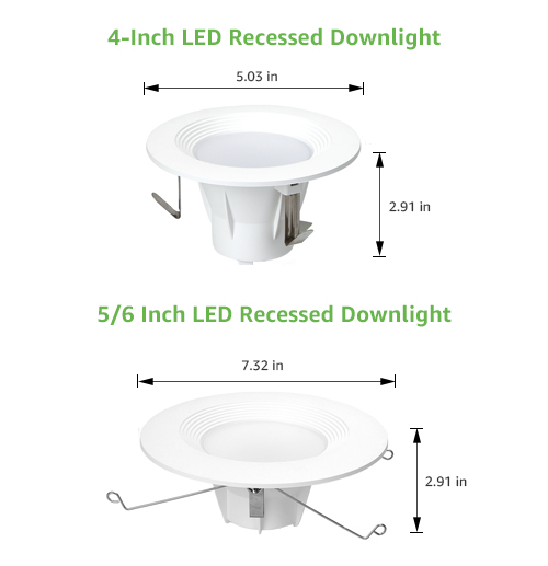 4/5/6 inch led recessed downlights