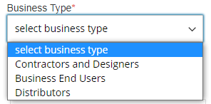 select business type