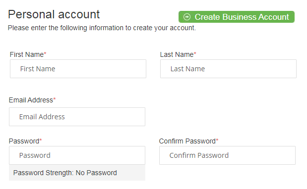 register personal account