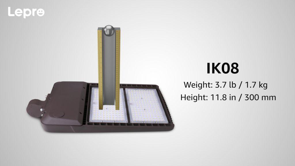 IK08 impact resistance rating