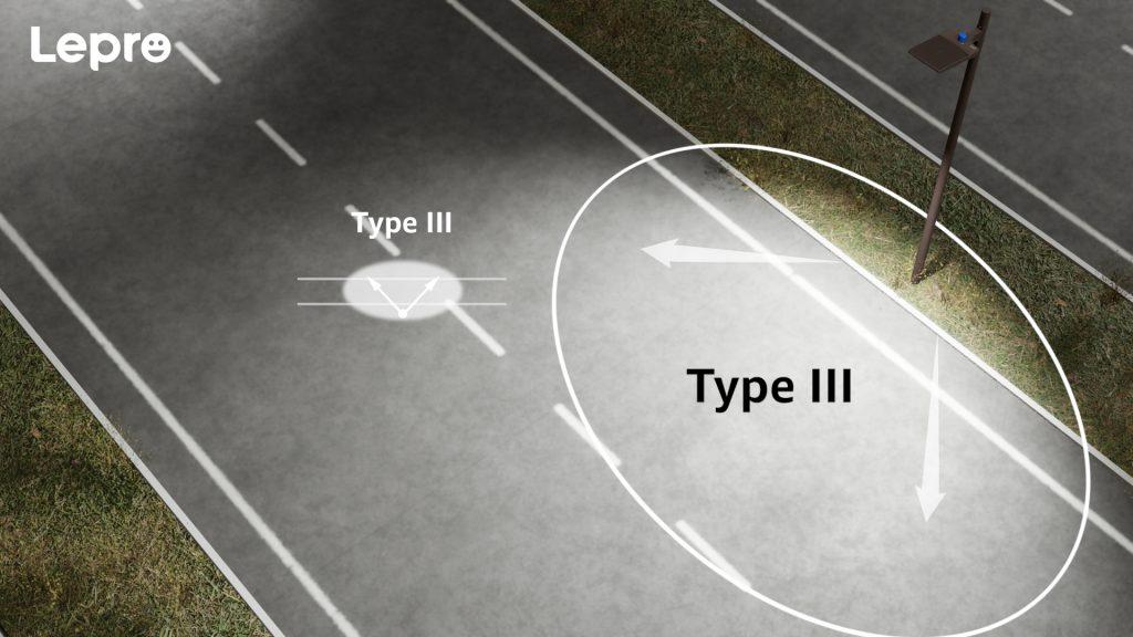 Type III Light Distribution