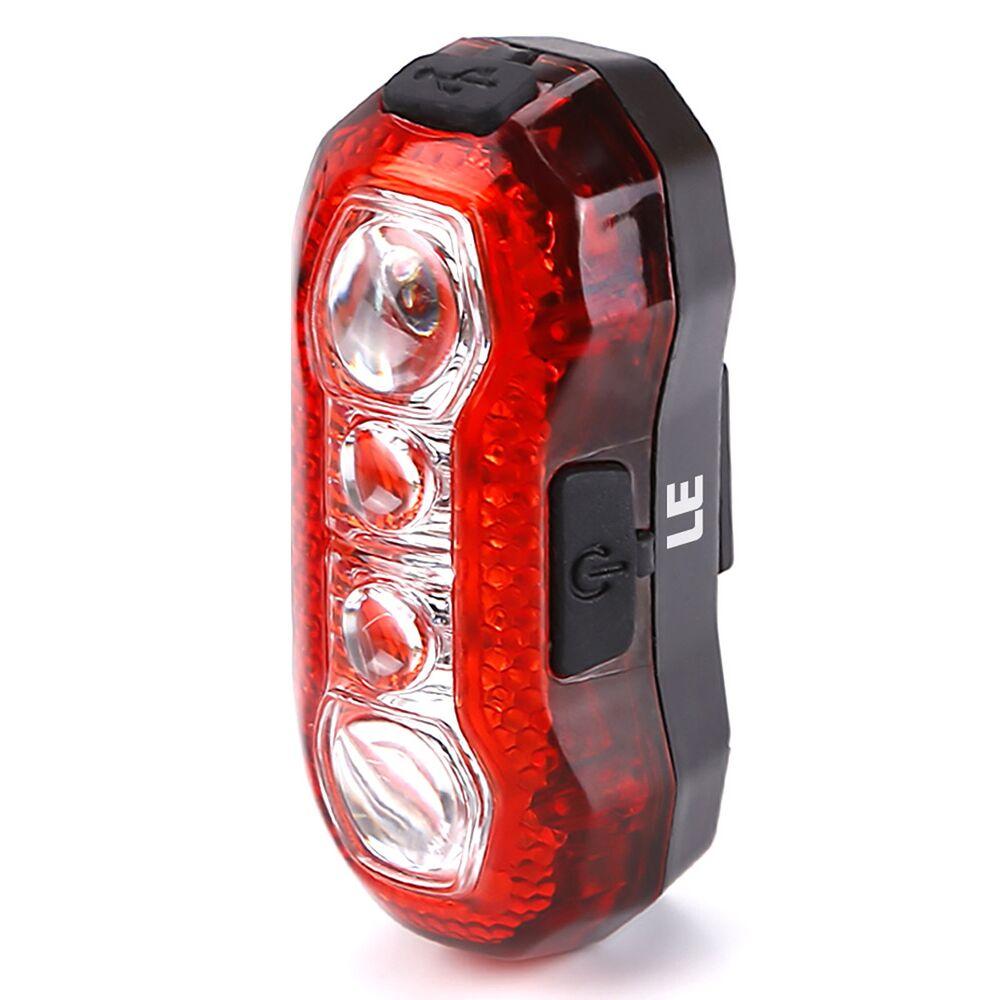 USB Rechargable Bike Rear Tail Light LED Bicycle Warning Safety Smart Lamp Mega