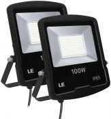 LE 100W Outdoor LED Flood Light, 8000 Lumen Security Lights, 250W HPS floodlight Equivalent, Waterproof IP65 Garden Light, 5000K Daylight White Floodlight