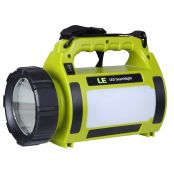 10W Rechargeable LED Spotlight, 1000lm, Portable, 3 Modes, 2 Brightness Levels, USB Cable Included, IPX4 Searchlight