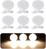 LE LED Under Cabinet Lighting Fixtures, Puck Lights Kit, 1020 Lumens, 3000K Warm White, Night Light, Perfect for Kitchen, Closet, Stairs and More, All Accessories Included, Pack of 6