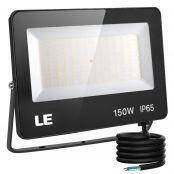 150W Outdoor LED Flood Light, 400W Metal Halide Equivalent, Waterproof IP65 Floodlight, 13000 Lumen, 5000K Daylight White