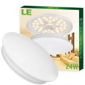 24W 16-Inch LED Ceiling Lights, 2000lm, Warm White, 180W Incandescent Bulbs Equiv, Ideal for Living Room, Bedroom, Dining Room