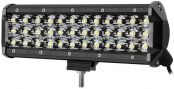 LE 9 Inch LED Light Bar 108W Waterproof Driving Spot Light Three Row 10800lm for Off-road Truck Car ATV SUV Jeep Cabin Boat