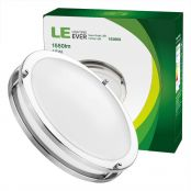 LE 12-Inch 18W Dimmable LED Flush Mount Ceiling Light, 120W Incandescent Bulb Equivalent, 1550lm, 3000K Warm White, 120° Beam Angle, LED Recessed Lighting Fixture, UL Listed