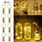 Battery Operated LED Copper Wire String Lights for Party Decoration, Pack of 16 Units