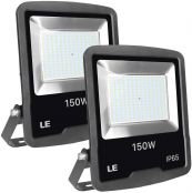 LE 150W Outdoor LED Flood Light, 12000 Lumen Security Lights, 400W HPS floodlight Equivalent, Waterproof IP65 Garden Light, 5000K Daylight White Floodlight