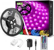 16 ft RGB LE LED Strip Lights with Remote and Power Adapter, 5050 SMD LED Strips