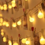 LE Globe String Lights, Plug in Twinkle Light, 33ft 100 LEDs, Warm White, 8 Modes, Indoor Outdoor Decorative Fairy Lights for Bedroom, Party, Patio, Gazebo, Festival Decor and More