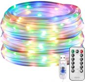 LE 33ft 100 LEDs Plugin Rope Lights