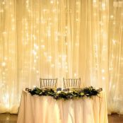 LE LED Curtain Lights, 19.7x9.8ft, 594 LED, 8 Modes, Plug in Twinkle Lights, Warm White, Indoor Outdoor Decorative Wall Window String Lights for Bedroom, Party, Wedding Backdrop, Patio Décor and More