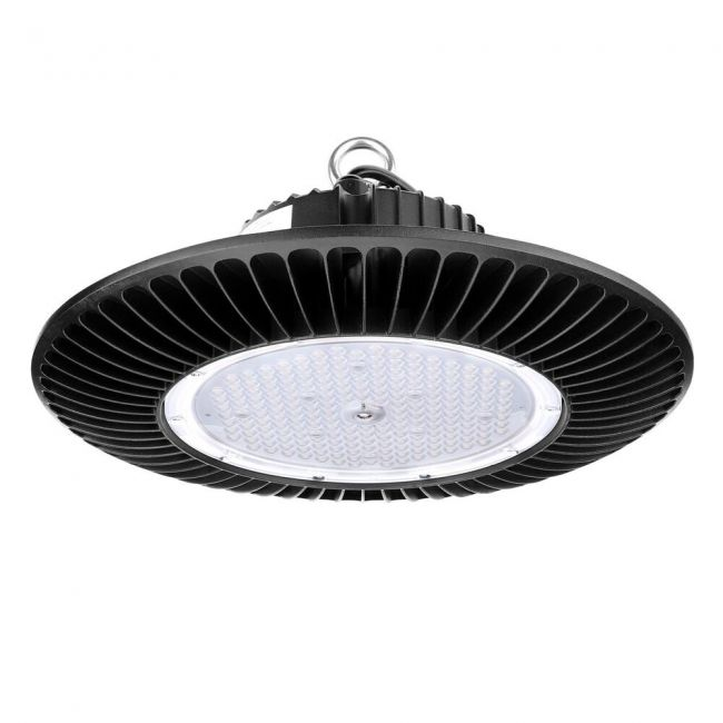 Le 100w Dimmable Ufo Led High Bay Light Fixture 200w Metal Halogen Lamp Bulbs Equivalent 12500lm Daylight White 120 Beam Angle Super Bright