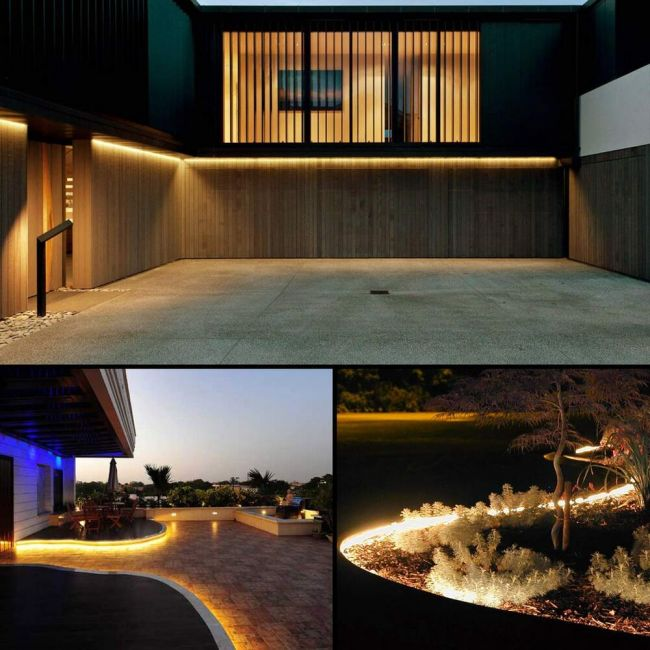 Le 65ft Led Strip Lights 120 Volt 150w 1200 Smd 5050 Leds Waterproof Flexible Warm White Etl Listed Indoor Outdoor Led Rope Light For Kitchen
