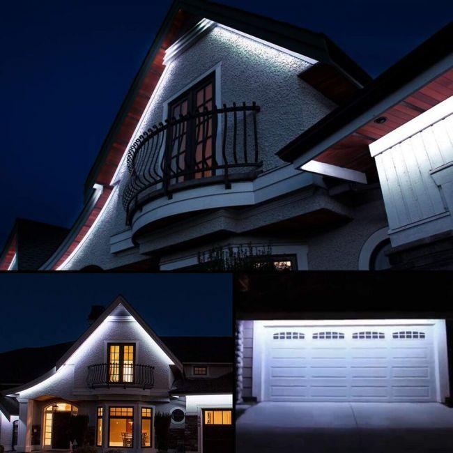 Le 49ft Led Strip Lights 120 Volt 70w 900 Smd 3528 Leds Waterproof Daylight White Etl Listed Flexible Indoor Outdoor Led Rope Light For Kitchen
