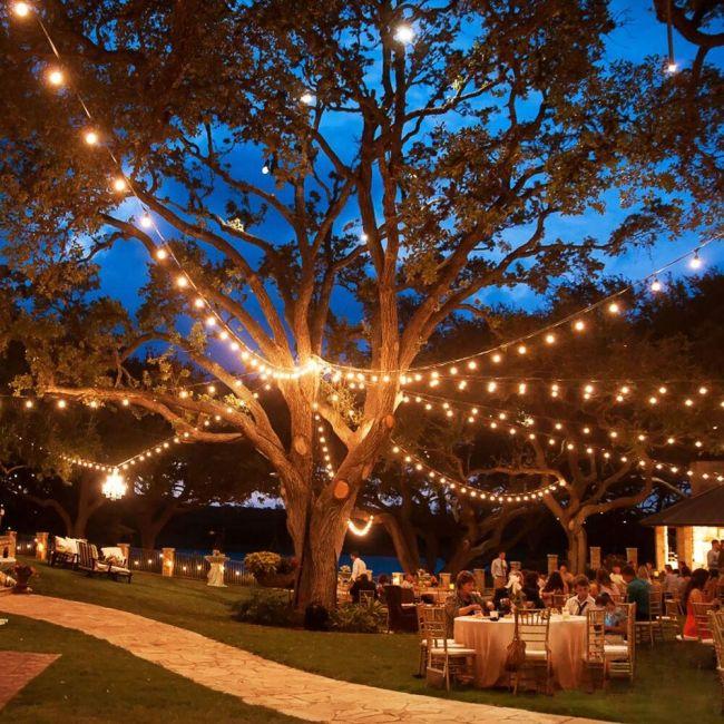 Outdoor String Lights Warm White Rgb