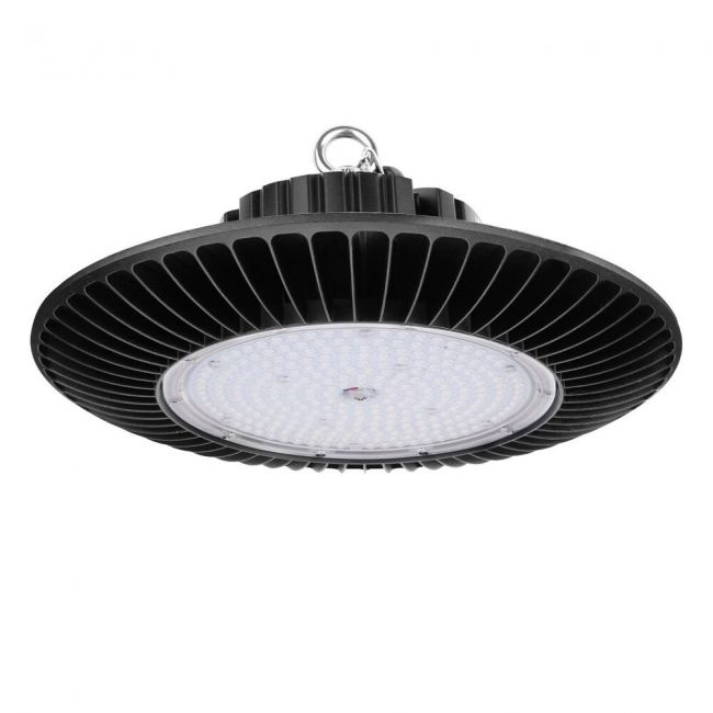 Le 200w Dimmable Ufo Led High Bay Lighting 400w Hps Mh Bulbs Equivalent 21000lm Waterproof Daylight White 6000k 120 Beam Super Bright