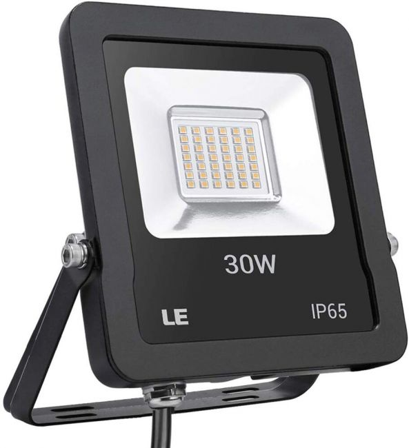 Le Outdoor Led Flood Light Super Bright Ip65 Waterproof 30w 2400lm 75w Hps Equivalent Warm White 3000k 100 Beam Angle Security Light For Home