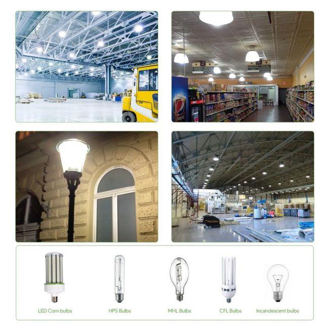 GarageWarehouseStreetGardenReplace Fluorescent LED Day Corn E26 Equivalent Bulbs3900Lm Light 60 Watt For 5000K LE 30W White Base thQxrdBCs