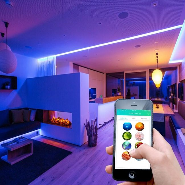Le 16 4ft Smart Waterproof Color Changing Led Strip Light Kit Ilux Bluetooth Mesh Multi Color Led Strip Light For Garden Bar Party