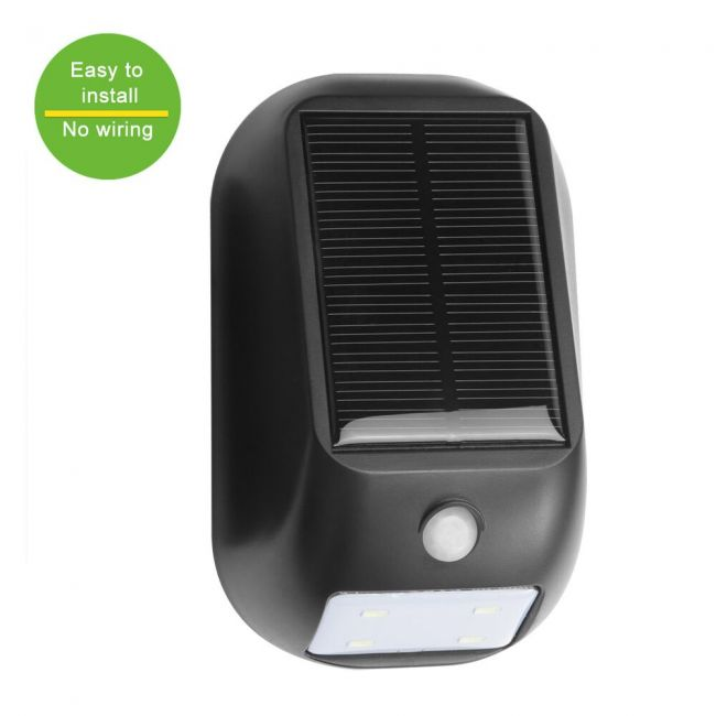 Solar Powered Led Motion Sensor Light Wireless Night Light Bright 160lm Led Wall Light Security Light For Door Entrance Pathways Patios