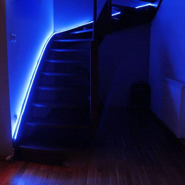 Le 110 120 V Ac Flexible Led Strip Light Kit Blue Waterproof Ip65 Outdoor Christmas Lights Led Tape Led Light Strips 164ft 50m