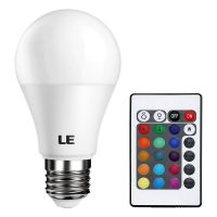 Color Changing A19 5W LED Light Bulbs, 16 Color Choice, Remote Controller Included