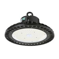 Dimmable UFO High Bay LED Light 100W, 300W Metal Halide Equivalent, Philips Lumileds LED, DLC Listed, White 5000K