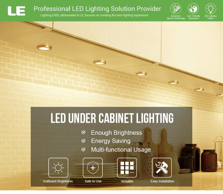 Warm White LED Under Cabinet Lighting Kit Enoug Brightness
