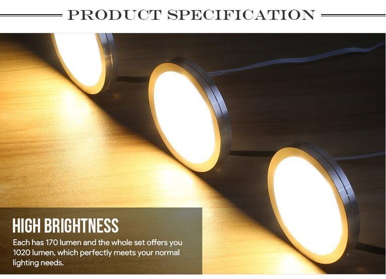 Warm White LED Under Cabinet Lighting Kit Energy Saving