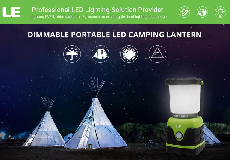 1000lm Dimmable Portable LED Lantern Battery Powered