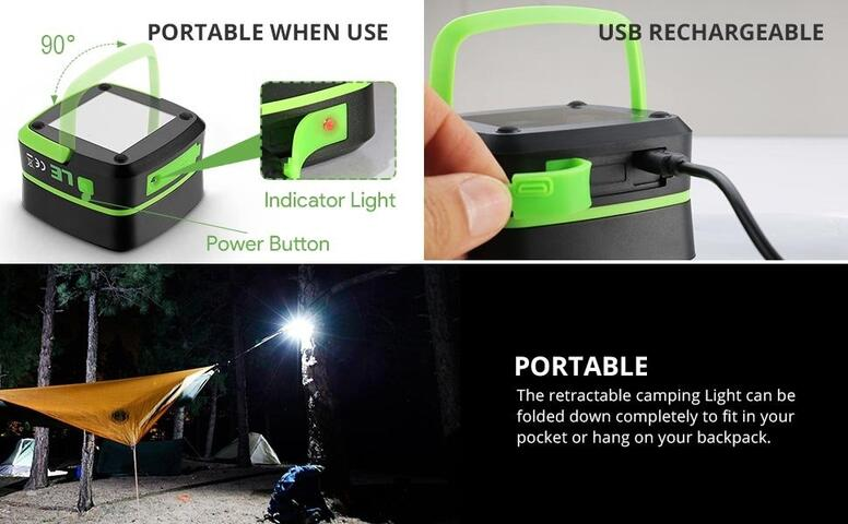 led collapsible camping lanterns