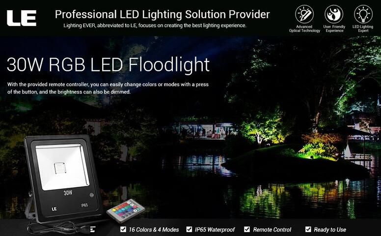 30w rgb led flood lights