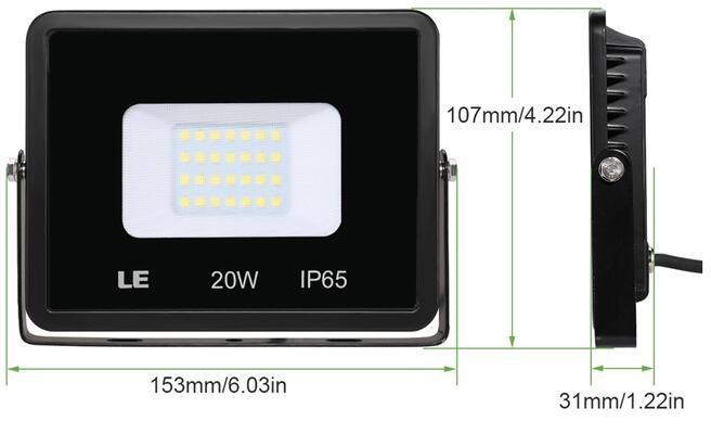 20w daylight white led flood light fixtures