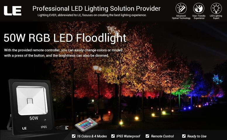 dimmable rgb led flood lights
